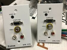 Extron WPB107B Wall Plate, VGA , 3.5 mini, RCA , Video, USED  LOT of 2