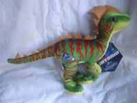 JURASSIC WORLD - Green Red Dinosaur Hybrid 18cm Plush Soft Toy Doll BRAND NEW