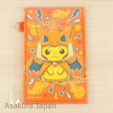Pokemon Center Poncho Pikachu Series Mega Charizard Y Ver. Card Pass Case