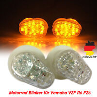 2x Motorrad LED Verkleidungs Blinker für Yamaha YZF R1 R6 FZ-1 Klar E11-Geprüft