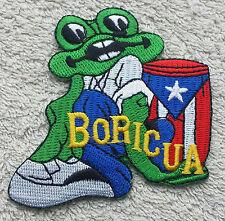 PUERTO RICO BORICUA FROG PATCH Cloth Badge El Coqui Biker United States America