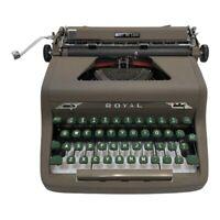 Vintage Royal Quiet De Luxe Portable Manual Typewriter with Original Case
