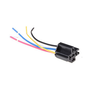 1Pcs 5 Pin Cable Relay Socket Harness Connector DC 12V for Car  baCWYXI