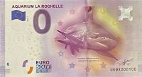 BILLET 0  EURO AQUARIUM LA ROCHELLE FRANCE  2016 NUMERO 100