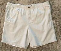 * IZOD Mens Size 32 Stone Beige Walking Shorts Elastic Waist Casual 100% Cotton