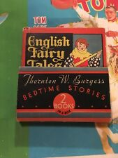 1934 THORNTON W BURGESS BEDTIME STORIES 2 BOOKS IN A BOX Big Little Book RELATED