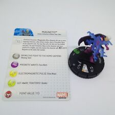 Heroclix Marvel 10th Anniversary set Magneto #015 Uncommon figure w/card!
