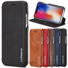 For iPhone X XR XS MAX 6 7 8 Plus Magnetic Flip Leather Case Wallet Stand Cover