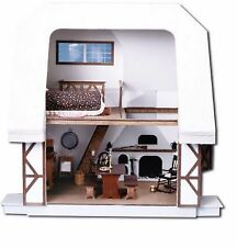 Dollhouse Kit Vintage Aster Cottage Wooden Furniture Miniature Kids Play Set New