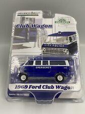 1:64 Greenlight 1969 Ford Club Wagon City Emergency Police Car #30209