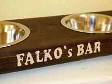Fressnapf Hundenapf *handgraviert* Futternapf Futter Bar Futterstation Napf Holz