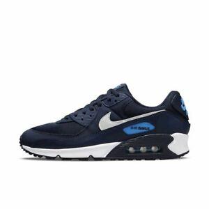 Mens Nike Air Max 90 Trainers DJ6881 400 Blue/White Size UK 6.5_9.5_11