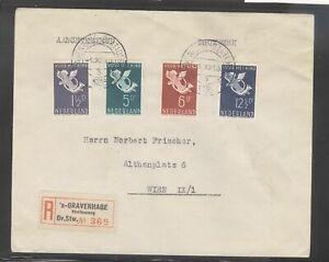 Netherlands 1936 Children Welfare Registered FDC To Austria