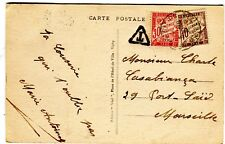 Gannat France 1933 Cover with Due Stamps tied by Marseille Expedition Po strike