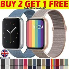 Nylon Woven Strap For Apple Watch iWatch Series1/2/3/4/5 38~44mm Sport Loop Band