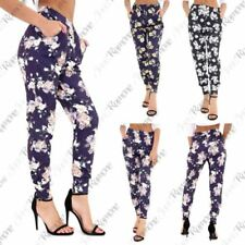 Summer Machine Washable Floral Leggings for Women