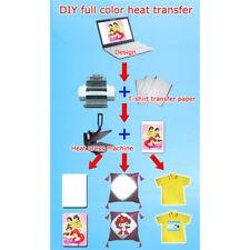 10Pcs A4 Heat Transfer Iron-On Paper For Light & Dark Fabric Cloth T-shirt HOT ~