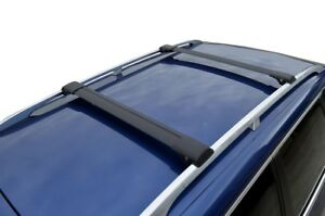 Alloy Roof Rack Slim Cross Bar for Kia Sorento 09-15 With No sunroof Black