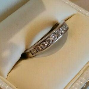 Diamond Wedding Eternity Band Ring 14k Approx .50ct $2100 value