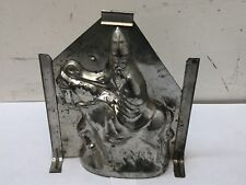 "Antique Santa Claus On Donkey 8.5"" Chocolate Mold Ges. Gesch. Vintage Rare"