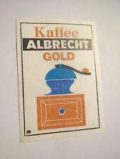 Albrecht Aldi-Markt - Kaffee Albrecht Gold / Streichholzetikett