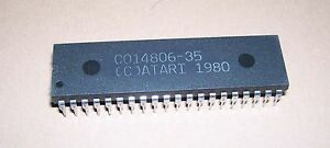 NEW Atari 800 XL XE computer console MPU CPU IC chip C014806 / 6502C Sally