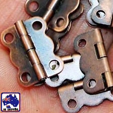 50pcs Small Antique Brass Butterfly Hinges Decor w/Screws 16x12mm TNDO29501x50