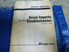 Snap On MT2500 Fast Track Troubleshooter Asian Imports User's Manual 1991