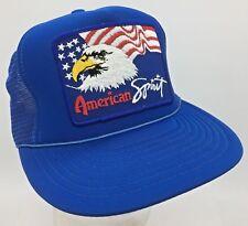 American Spirit Eagle Flag Patch Front Snapback Trucker Hat Cap