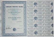 Action - Compagnie Financière MOCUPIA, action de 100 Frs N° 008227