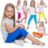 Children Cropped Leggings Comfy Colorful Cotton Capri Kids 3/4 Pants Age 2-13