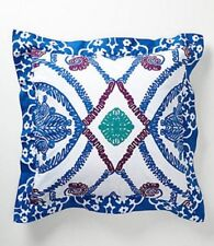 "Anthropologie Euro Sham Isla Blue Cotton 26"" x 26"" Anthropologie Home"
