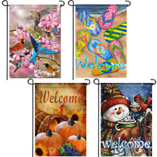 Anley Garden Flag Four Seasons Series - Decorative Deluxe Set Patio Flags