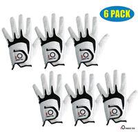 Cabretta Leather Golf Glove Men's 6 Pack No-Slip White Left Hand Right Fast Ship