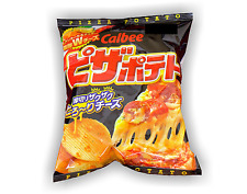 Japan Calbee PIZZA POTATO chips with emmental & cheddar cheese Japanese snacks