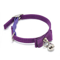 Adjustable Cute Pet Cat Kitten Puppy Collar Safety Buckle Neck Strap With Bell F