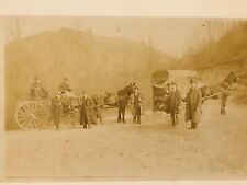 PRE PROHIBITION VINTAGE PHOTO OF Men Drinking Beer From Horse Wagon CARRIAGE