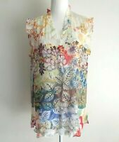 Seven Sisters Floral Long Sleeveless Tunic Shirt Size 5
