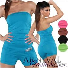 Polyester Solid Regular Size Jumpsuits, Rompers & Playsuits for Women