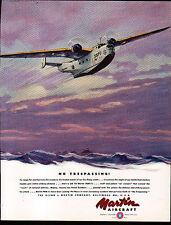 1941 MARTIN AIRCRAFT AD- CHARLES H HUBBEL PAINTING