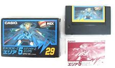 """MSX ROM""""EXOIDE-Z AREA 5""""GPM-129 CASIO BOXED JAPAN"""