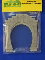 Tunnel  Portale 1 binario per plastico o diorama pezzi 2 scala N 1/160- Krea