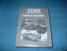 NEW  BLACK & WHITE BOX CANYON BOMBER ATARI 2600 & 7800