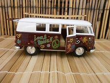 1962 CLASSIC VW LOVE & PEACE SURFBOARD LONGBOARD VAN BEACH JACOBS LOGO BUS 1:32