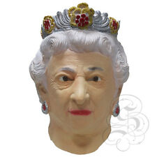 Latex Queen Elizabeth of England Mask - English Royal Family Fancy Dress Props