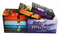 NEW SEALED BOX SET WITH ALL 7 HARRY POTTER BOOKS 1-7 BY J.K. ROWLING NEW