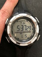 Men's Bistec Water Resistant Stainless Steel Black Digital Watch