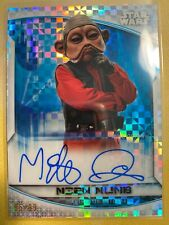 NIEN NUNB 2020 Topps Chrome Star Wars Perspectives X-Fractor Auto /99