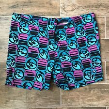 Vintage GOTCHA Swim Trunks XXL 2XL Aztec Tribal Paint Splatter 90s Pastel Shorts