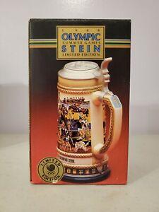 1988 OLYMPIC GAMES SEOUL Anheuser Busch Stein by Gerz Ltd. ED.